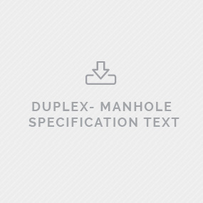 Predl DUPLEX Manhole specification text